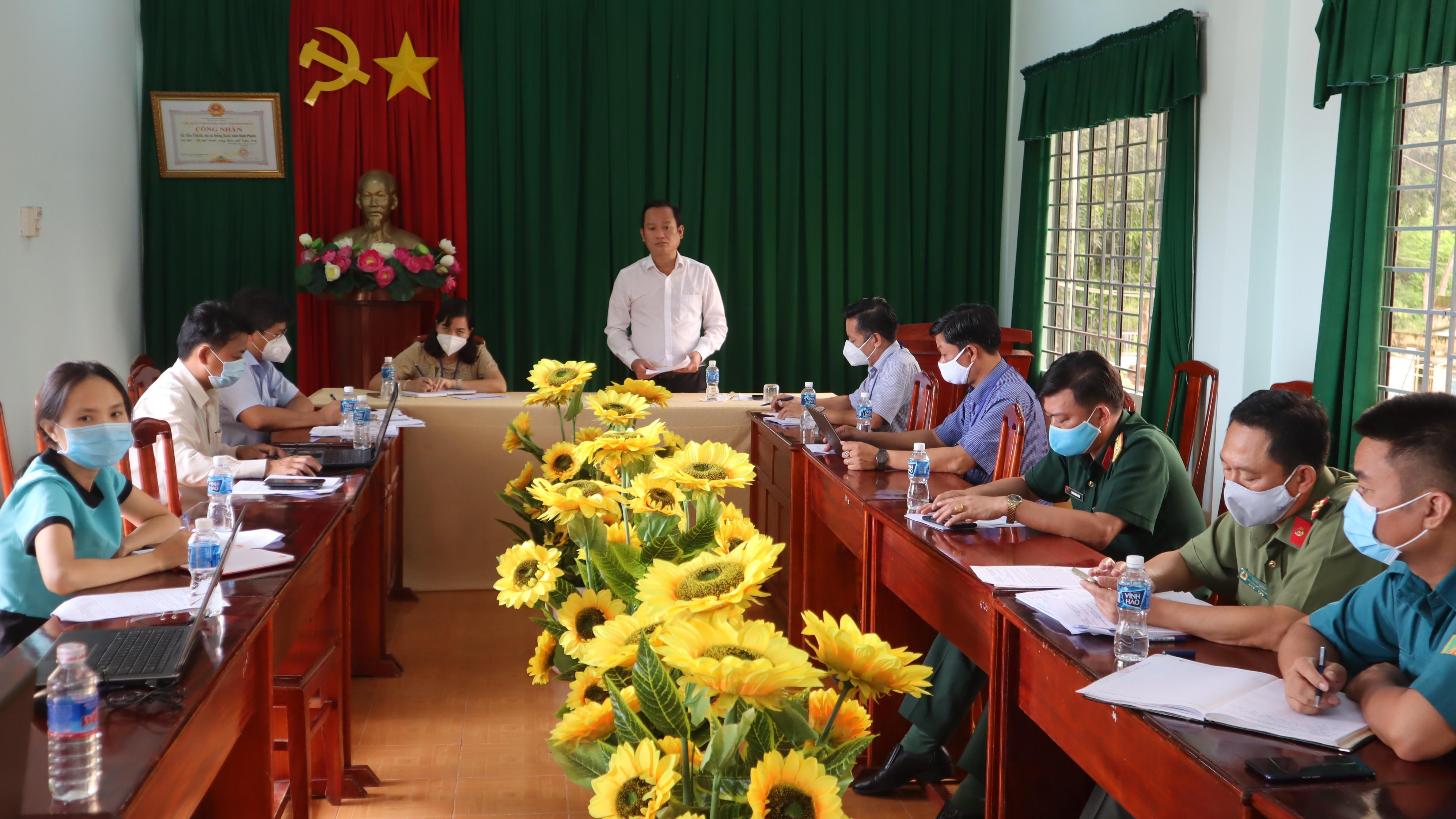 Chủ tịch UBND thành phố Nguyễn Minh Bình làm việc với Đảng ủy UBND xã Tân Thành